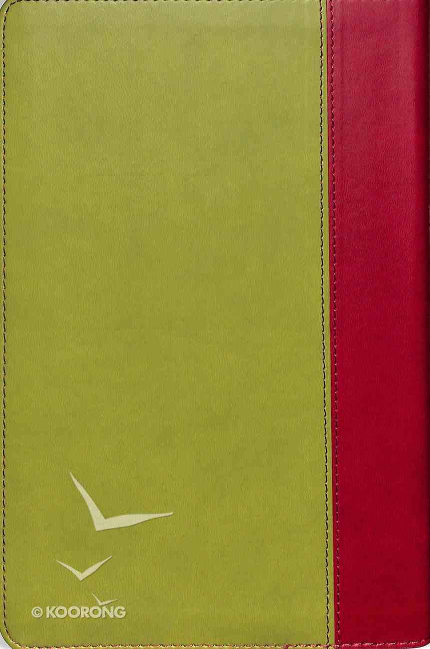 NIV Thinline Deluxe Bible Green Burgundy Premium Imitation Leather