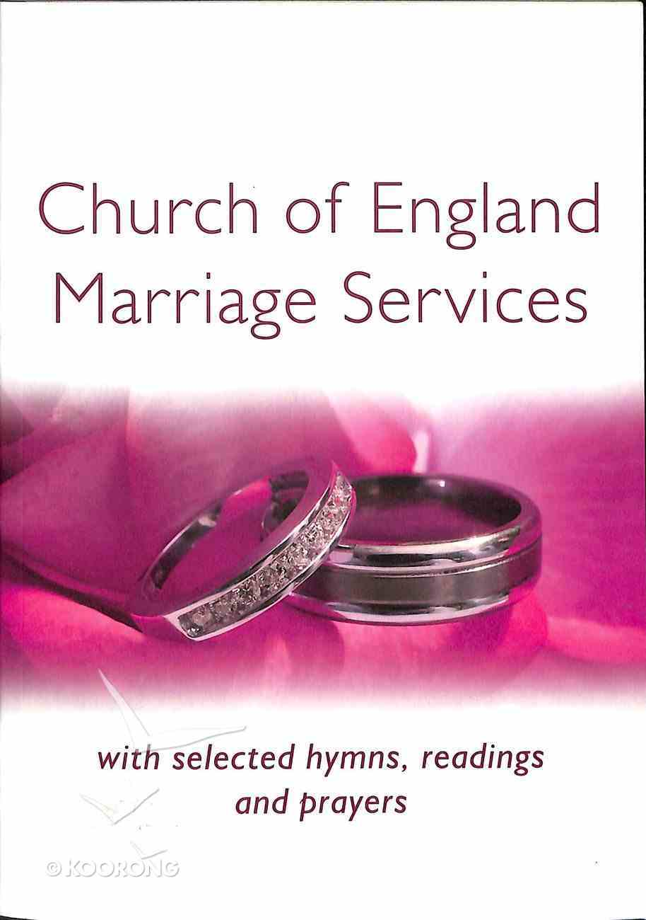 Church of England Marriage Services Paperback