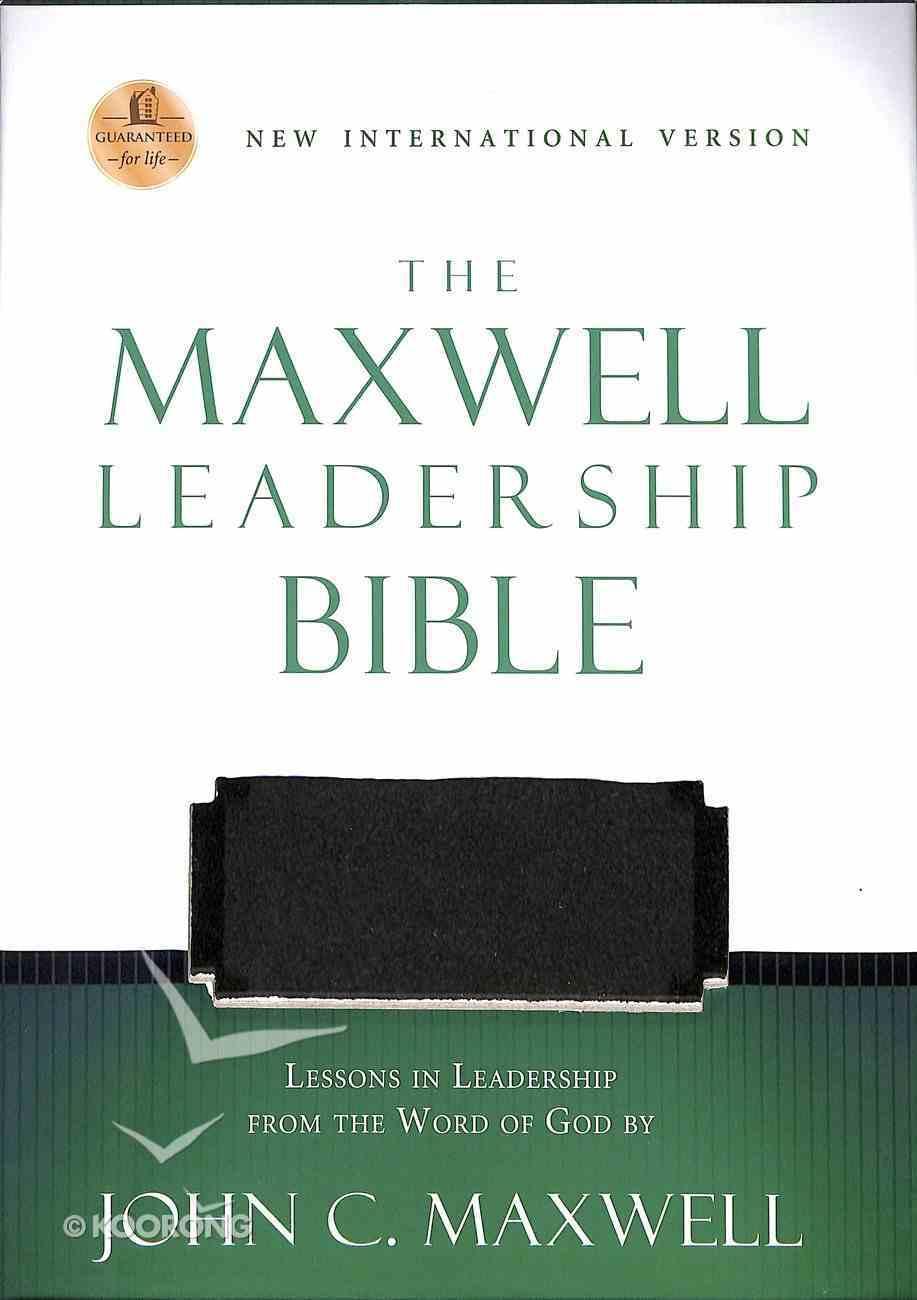 NIV Maxwell Leadership Bible Rich Auburn/Dark Roast Premium Imitation Leather