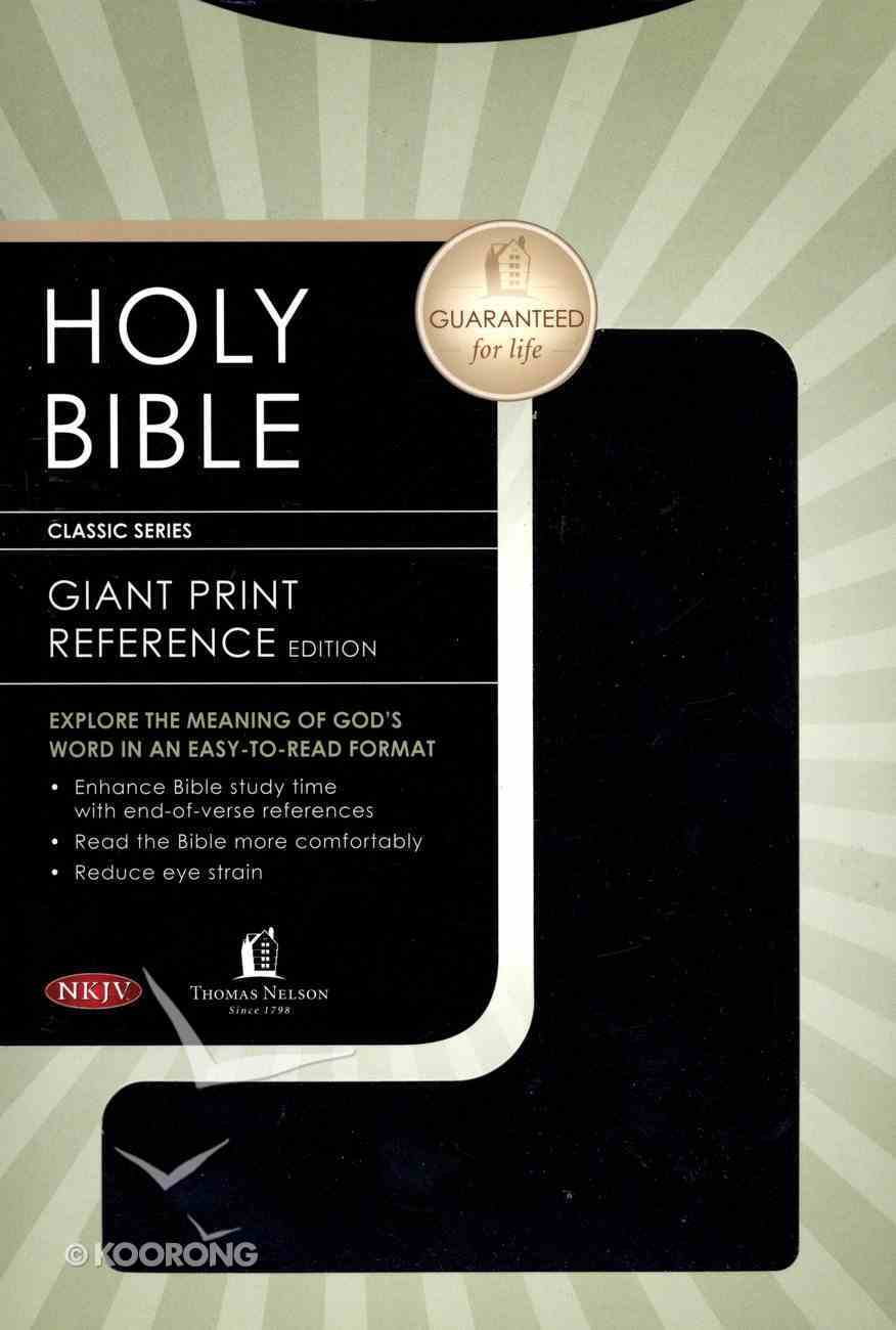 NKJV Personal Size Giant Print Reference Black (Red Letter Edition) Imitation Leather