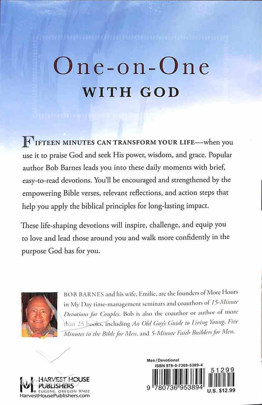 15 Minutes Alone With God For Men Paperback