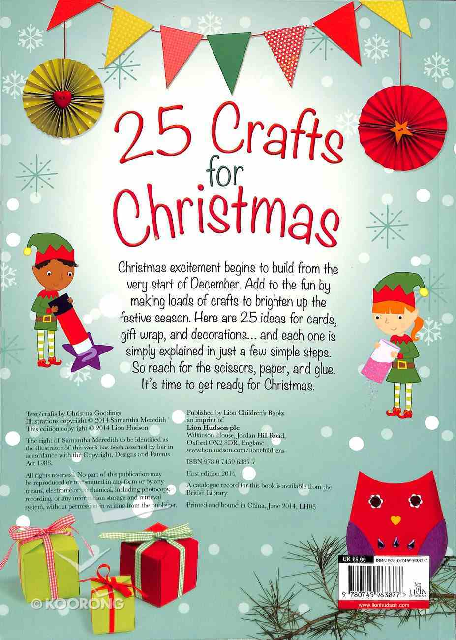 25 Crafts For Christmas Paperback