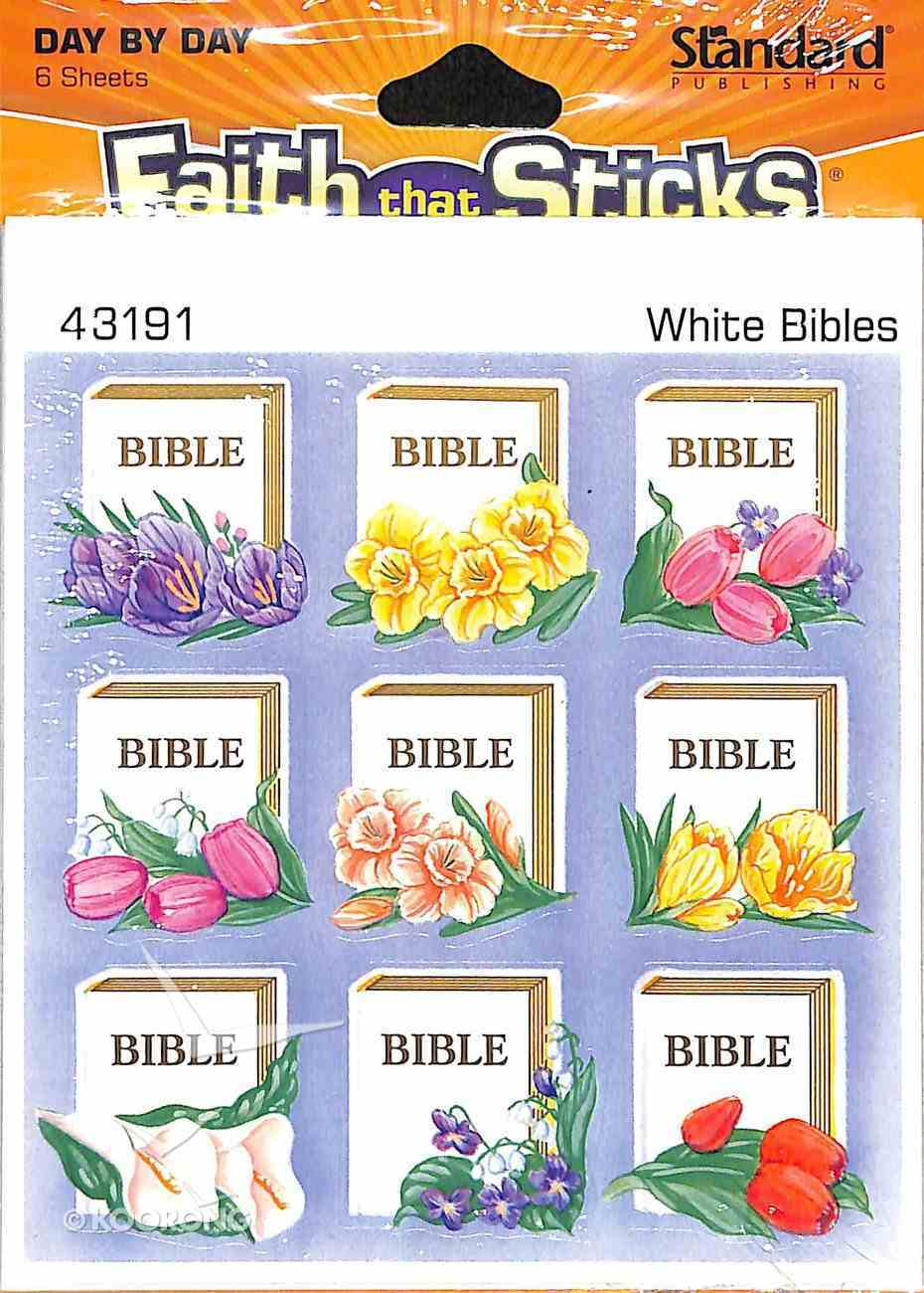 White Bible (6 Sheets) (Stickers Faith That Sticks Series) Stickers