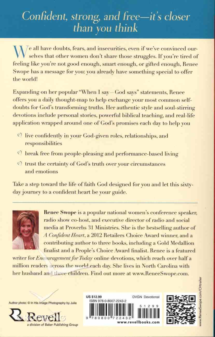 A Confident Heart Devotional Paperback