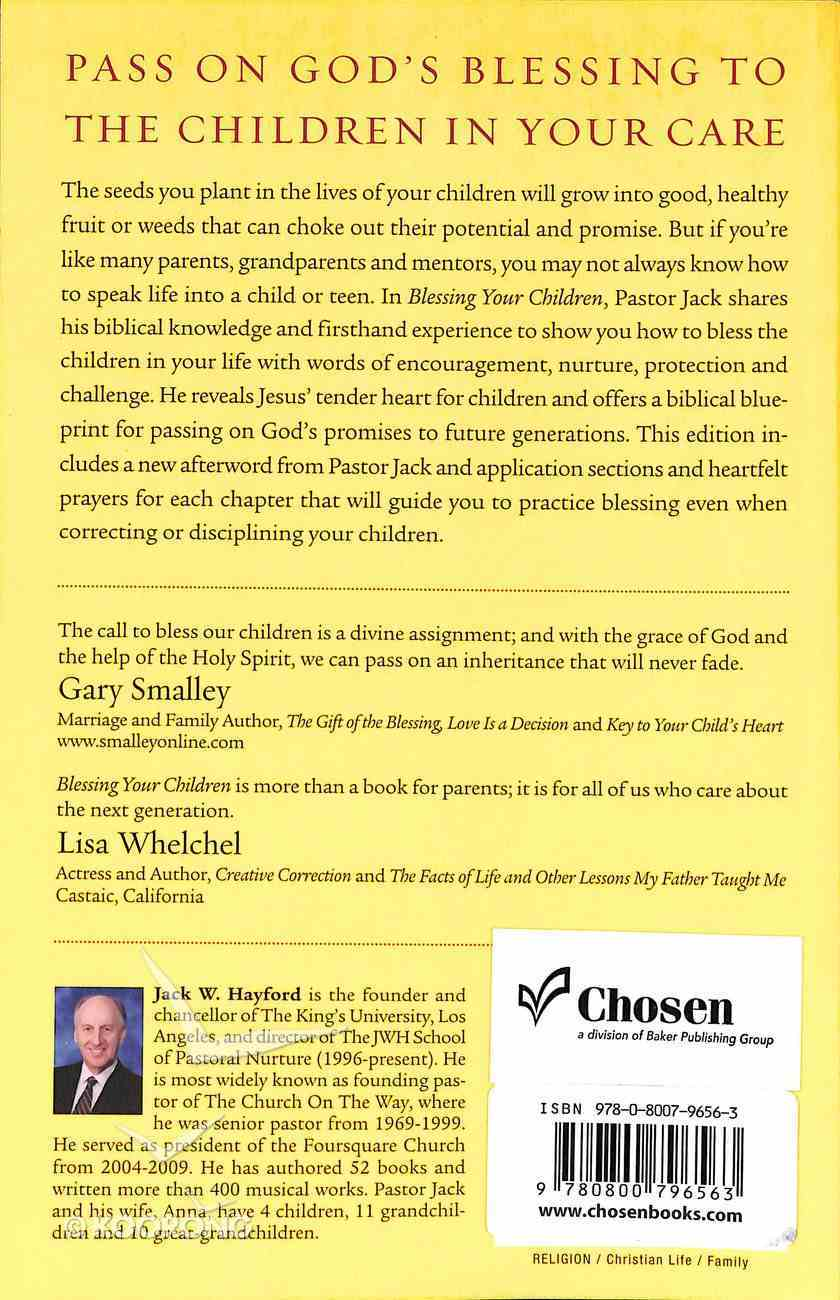 Blessing Your Children Paperback