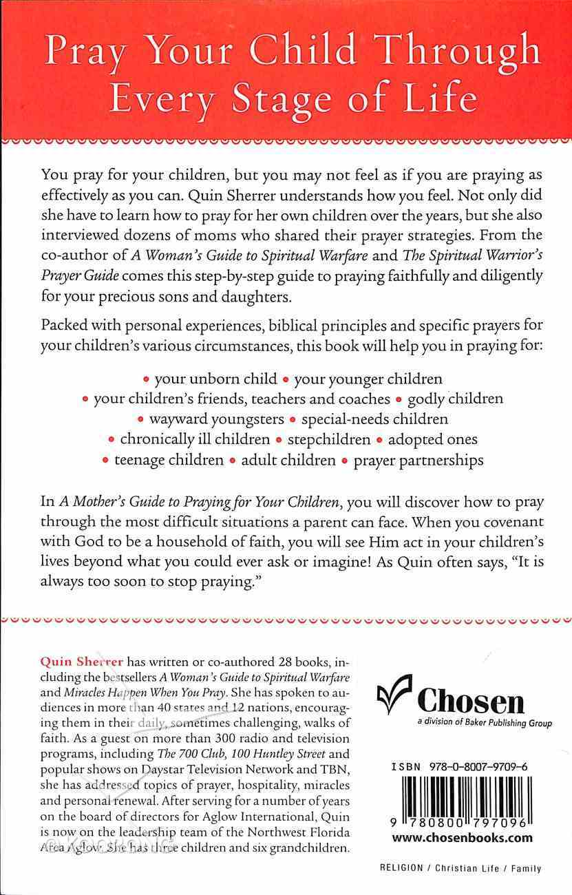 A Mother's Guide to Praying For Your Children Paperback