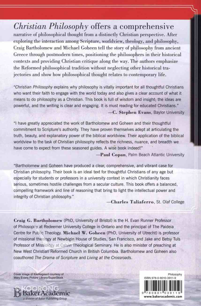 Christian Philosophy: A Systematic and Narrative Introduction Paperback
