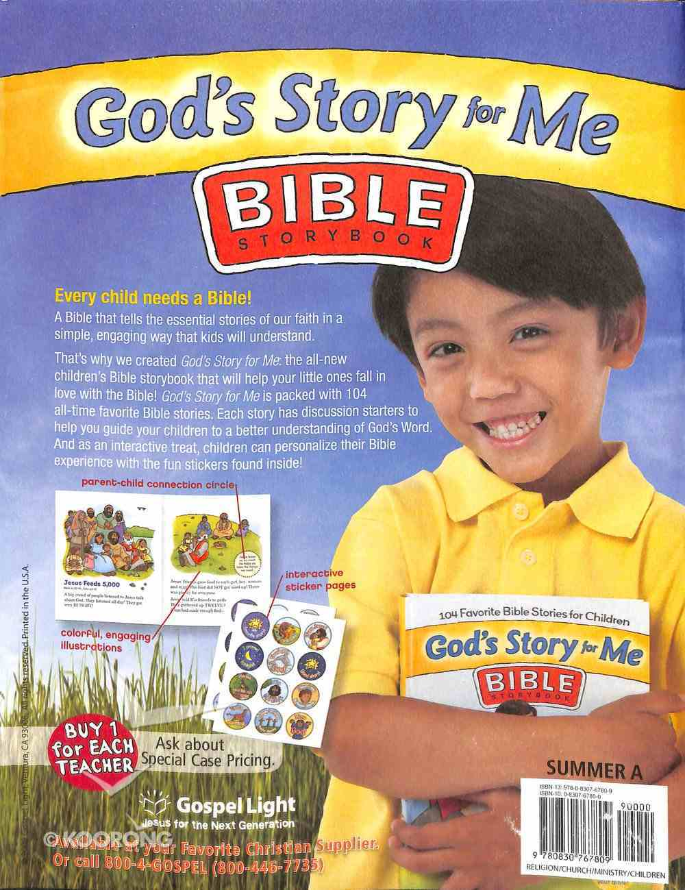 Gllw Summera 2018/2019 Ages 4&5 Talk Time Activity Pages Kindergarten (Year a) (Gospel Light Living Word Series) Paperback