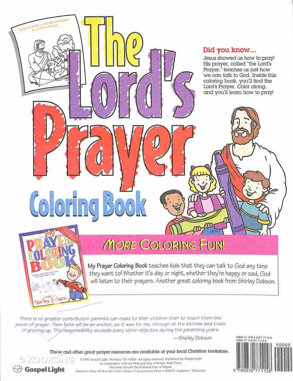 The Colouring Book: Lord's Prayer (Shirley Dobson Colouring Books Series) Paperback