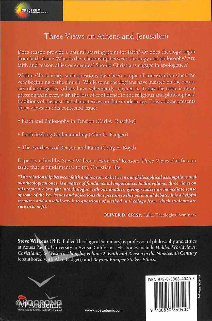 Faith and Reason: Three Views Paperback