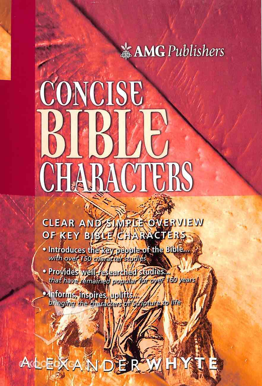 Amg Concise Bible Characters Paperback