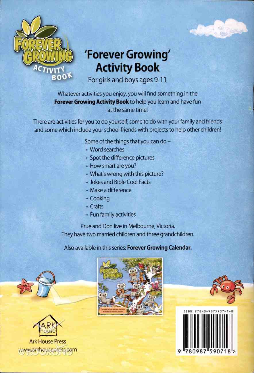 Forever Growing Activity Book Paperback