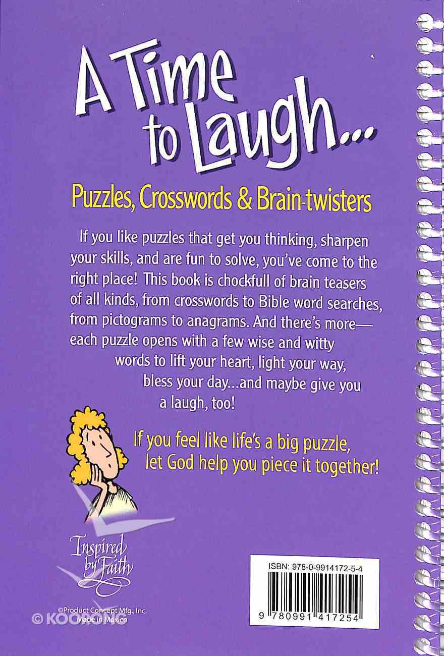 A Time to Laugh: Puzzles, Crosswords and Brain Twisters Spiral