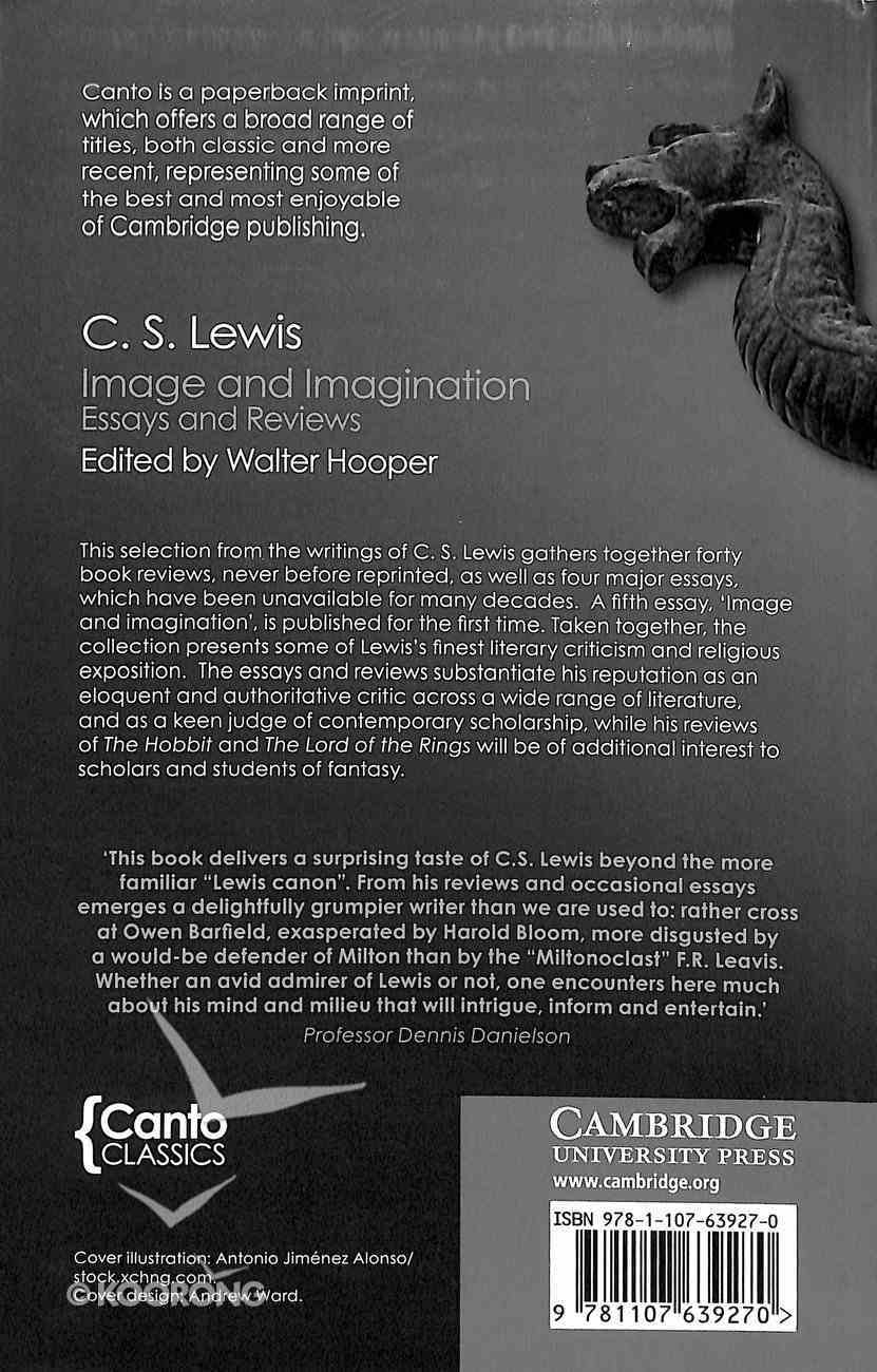 Image and Imagination: Essays and Reviews (Canto Classics Series) Paperback