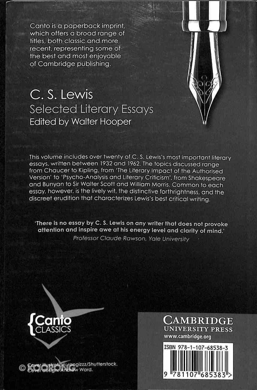 Selected Literary Essays (Canto Classics Series) Paperback