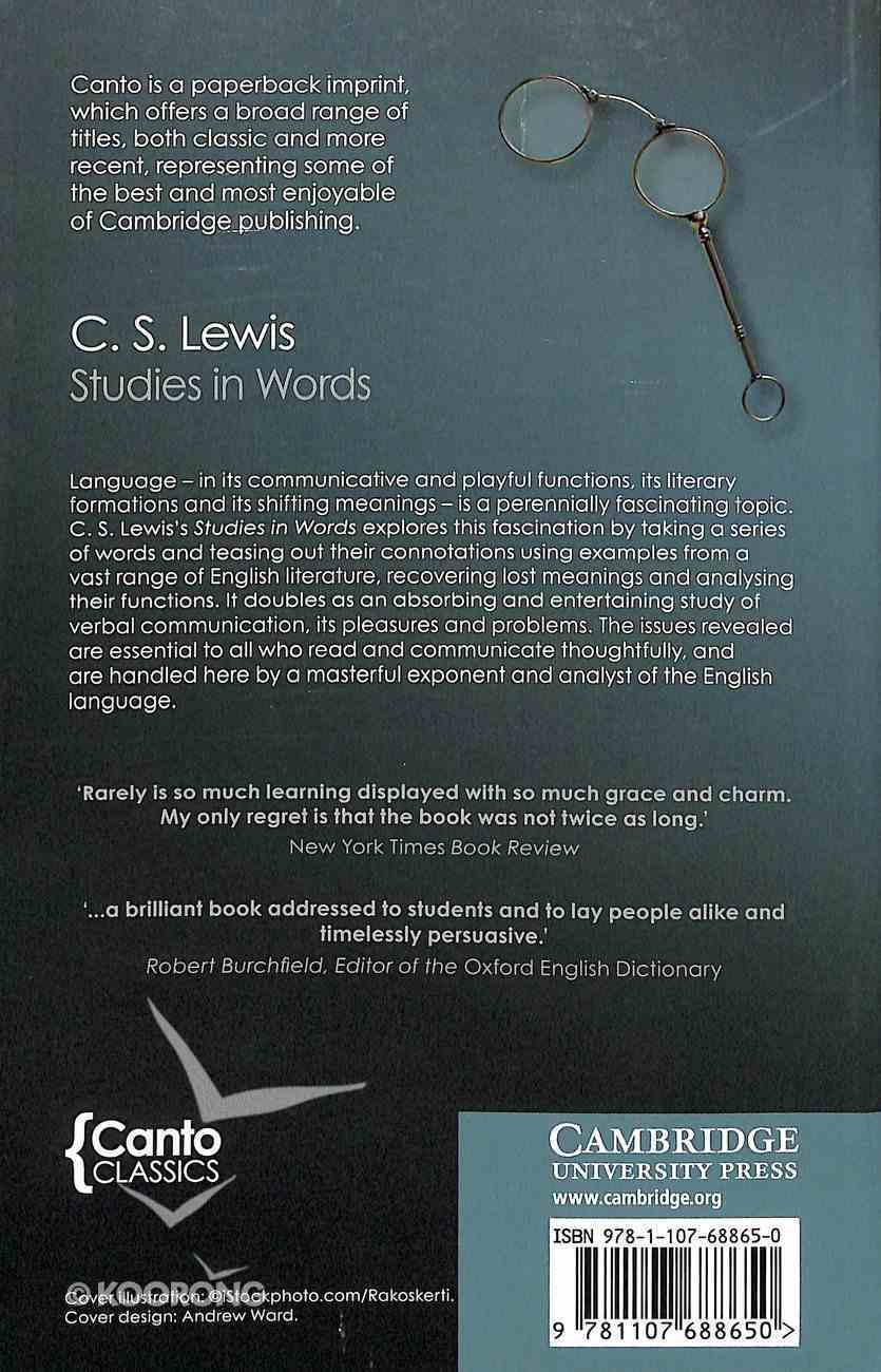 Studies in Words (2nd Edition) (Canto Classics Series) Paperback