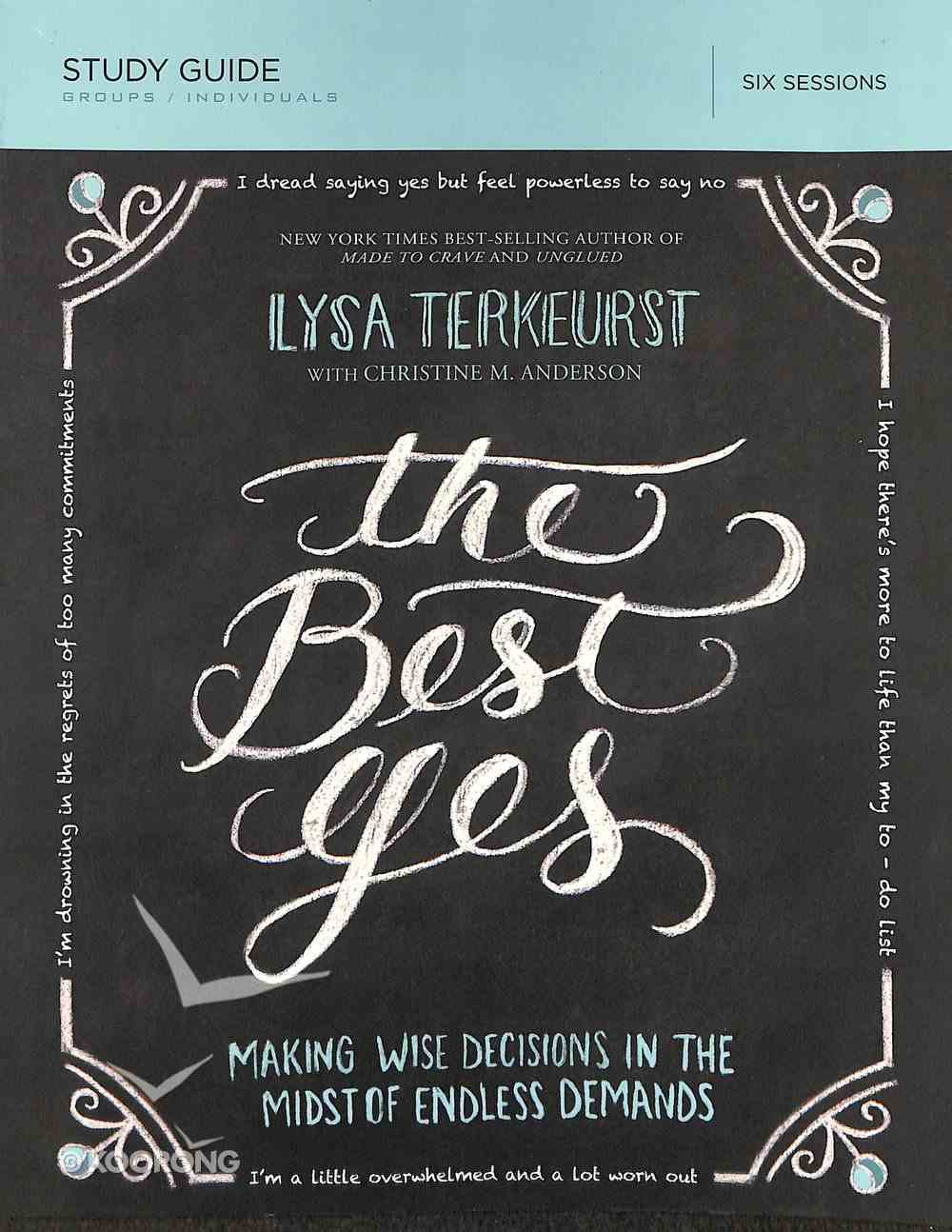 The Best Yes (Study Guide) Paperback