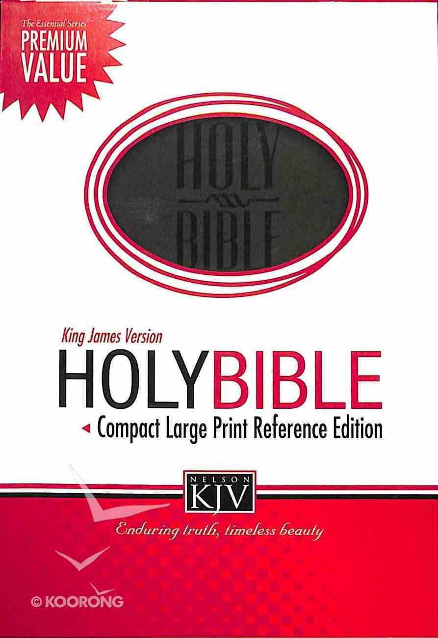 KJV Compact Large Print Reference Bible Black (Essentials) Imitation Leather