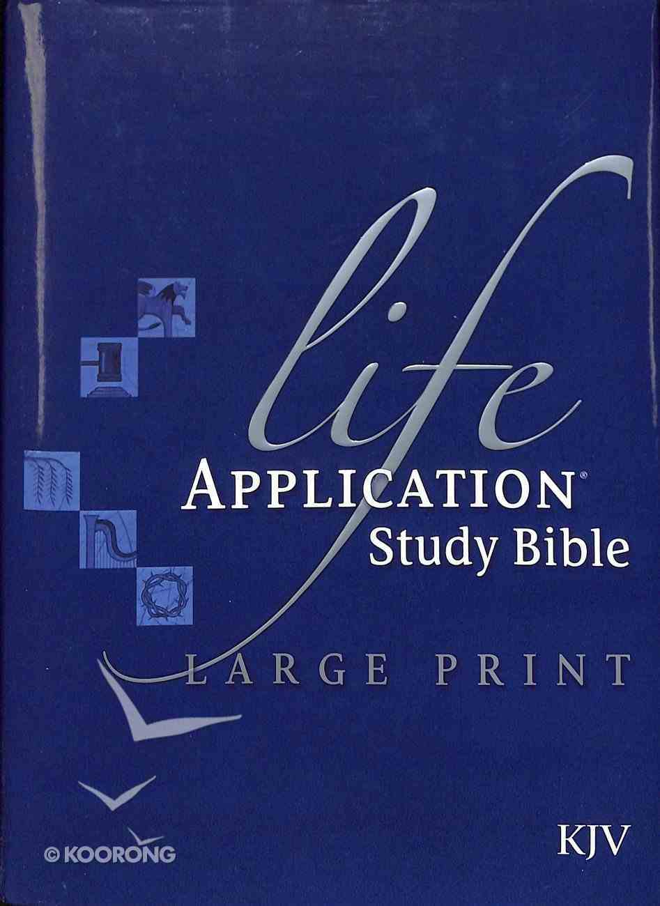 KJV Life Application Study Large Print Bible Indexed (Red Letter Edition) Hardback