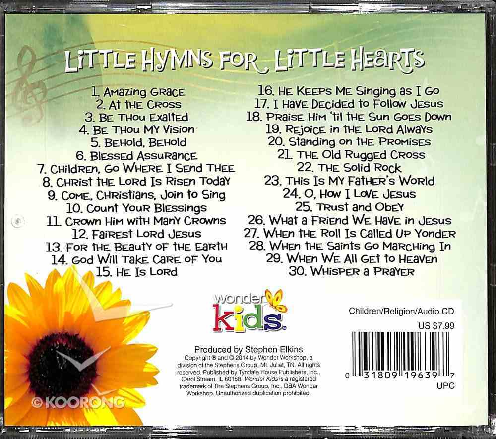 Little Hymns For Little Hearts (#03 in Wonder Kids Music Series) CD