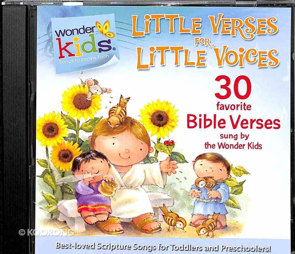 Little Verses For Little Voices (#02 in Wonder Kids Music Series) CD