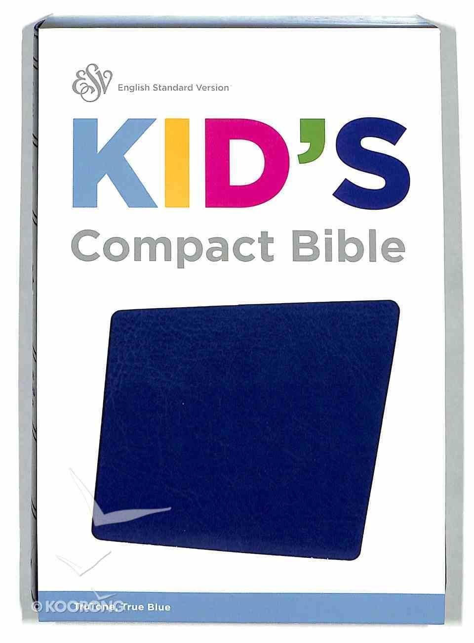 ESV Kid's Compact Bible Trutone True Blue Imitation Leather
