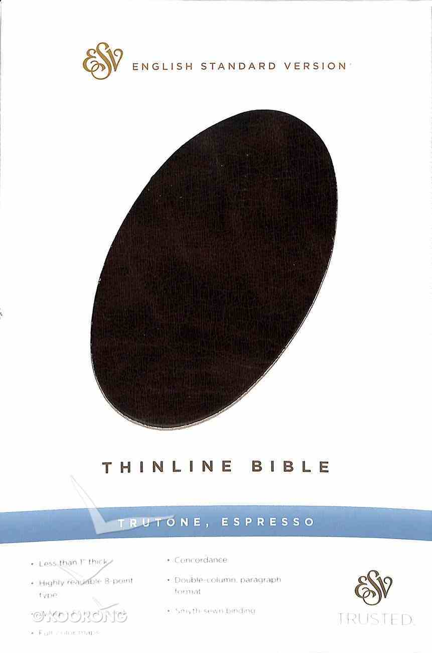 ESV Thinline Bible Espresso (Red Letter Edition) Imitation Leather