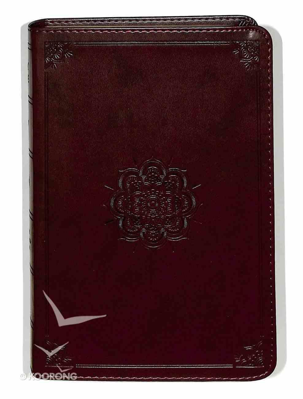 ESV Personal Reference Bible Trutone Mahogany Emblem Design Imitation Leather