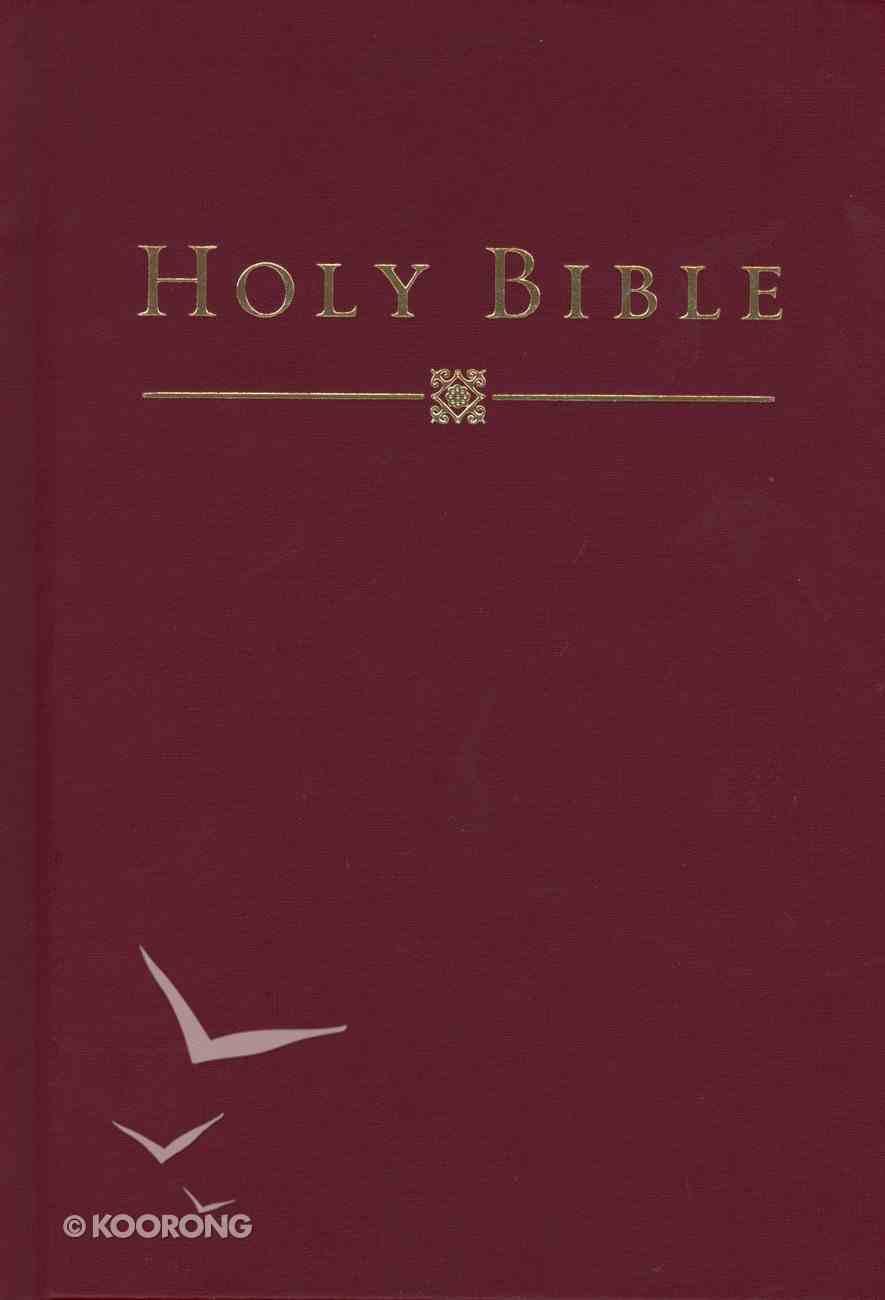HCSB Pew Bible Deep Garnet Maroon Hardback