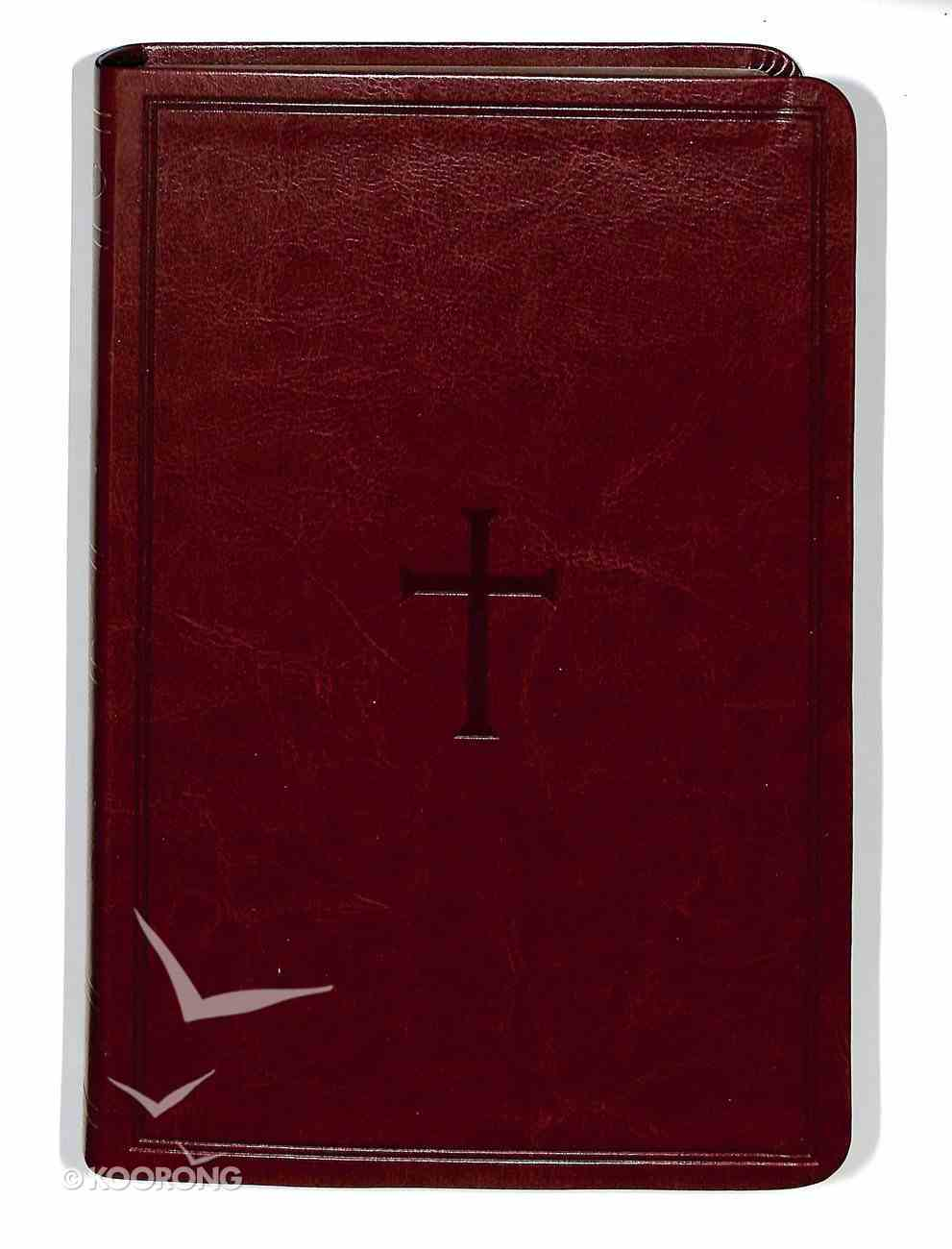 NKJV Large Print Personal Size Reference Bible Brown Premium Imitation Leather