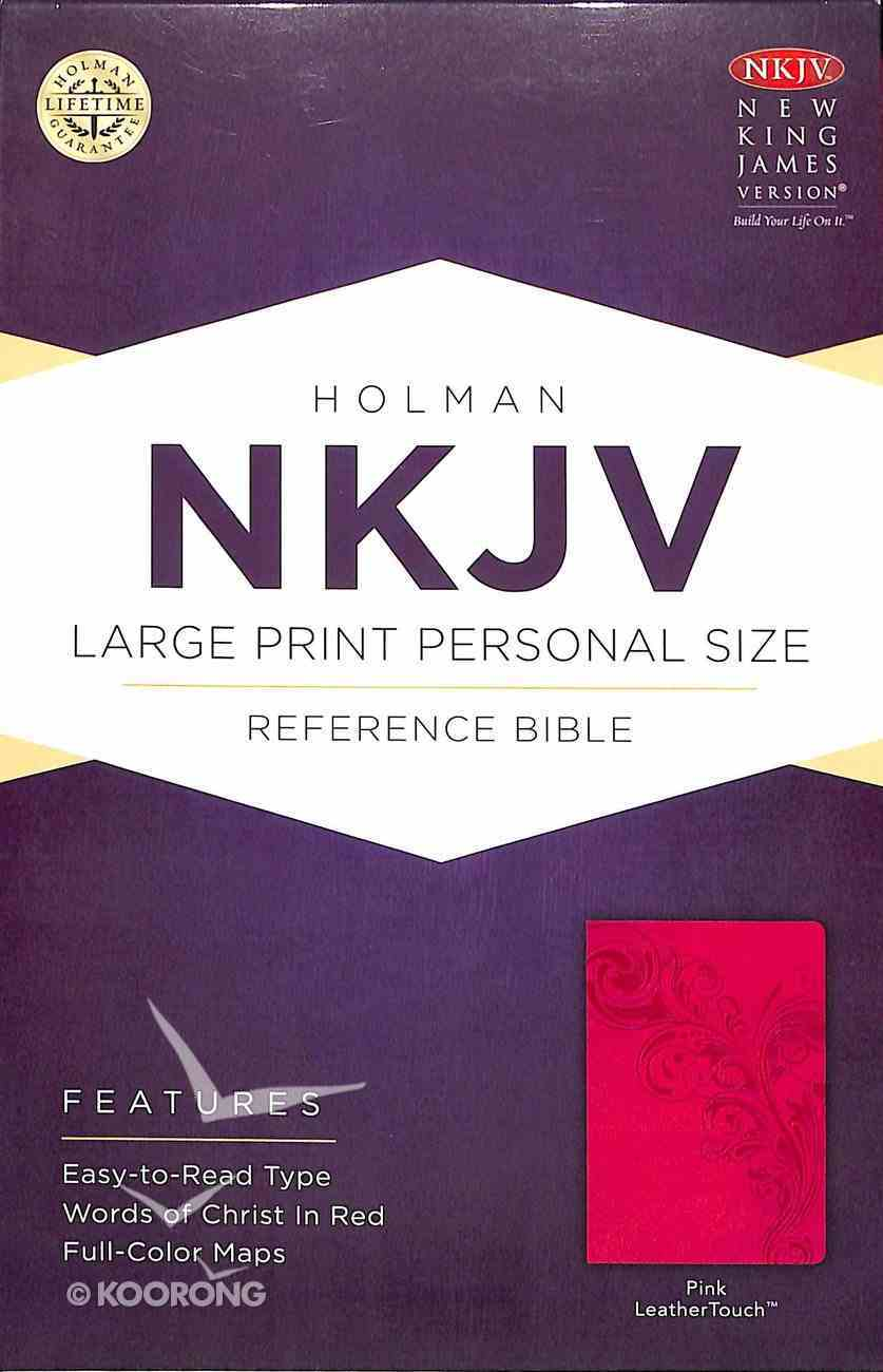 NKJV Large Print Personal Size Reference Bible Pink Premium Imitation Leather