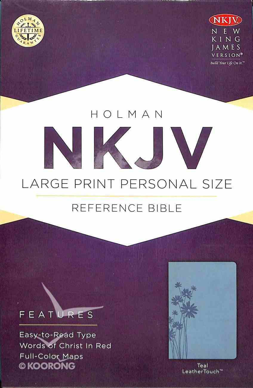 NKJV Large Print Personal Size Reference Bible, Teal Leathertouch Premium Imitation Leather