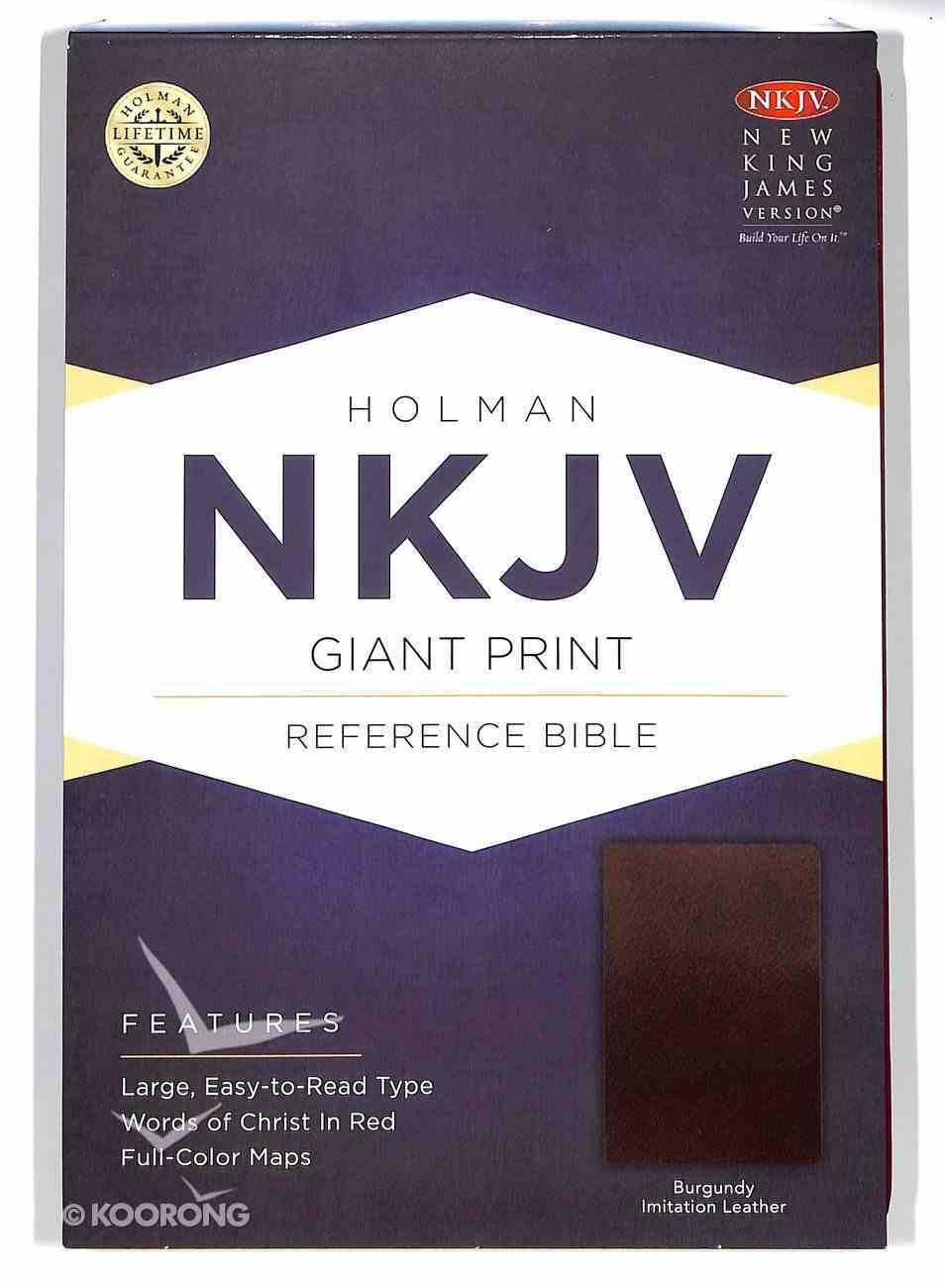 NKJV Giant Print Reference Bible Burgundy Imitation Leather