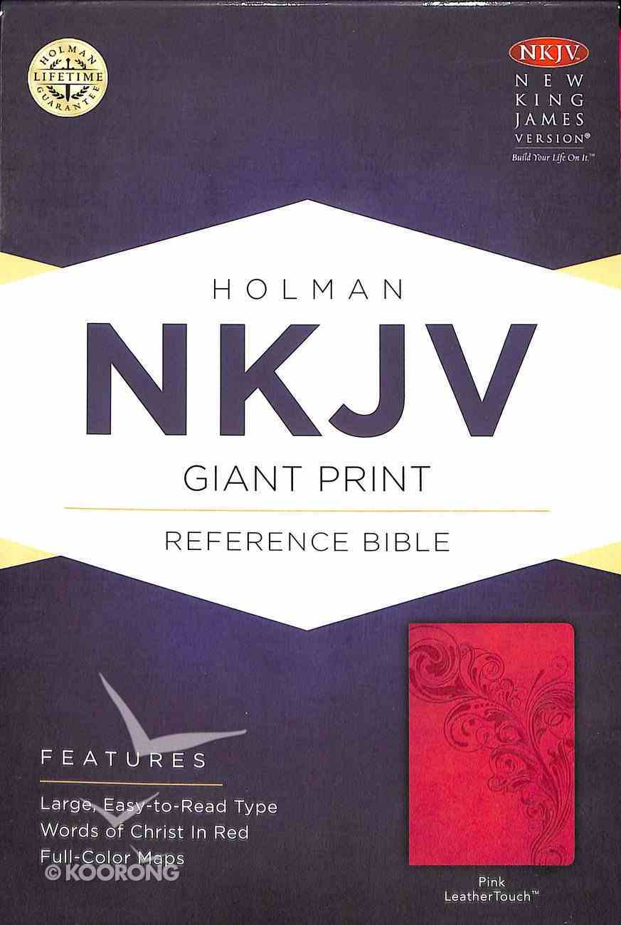 NKJV Giant Print Reference Bible Pink Premium Imitation Leather