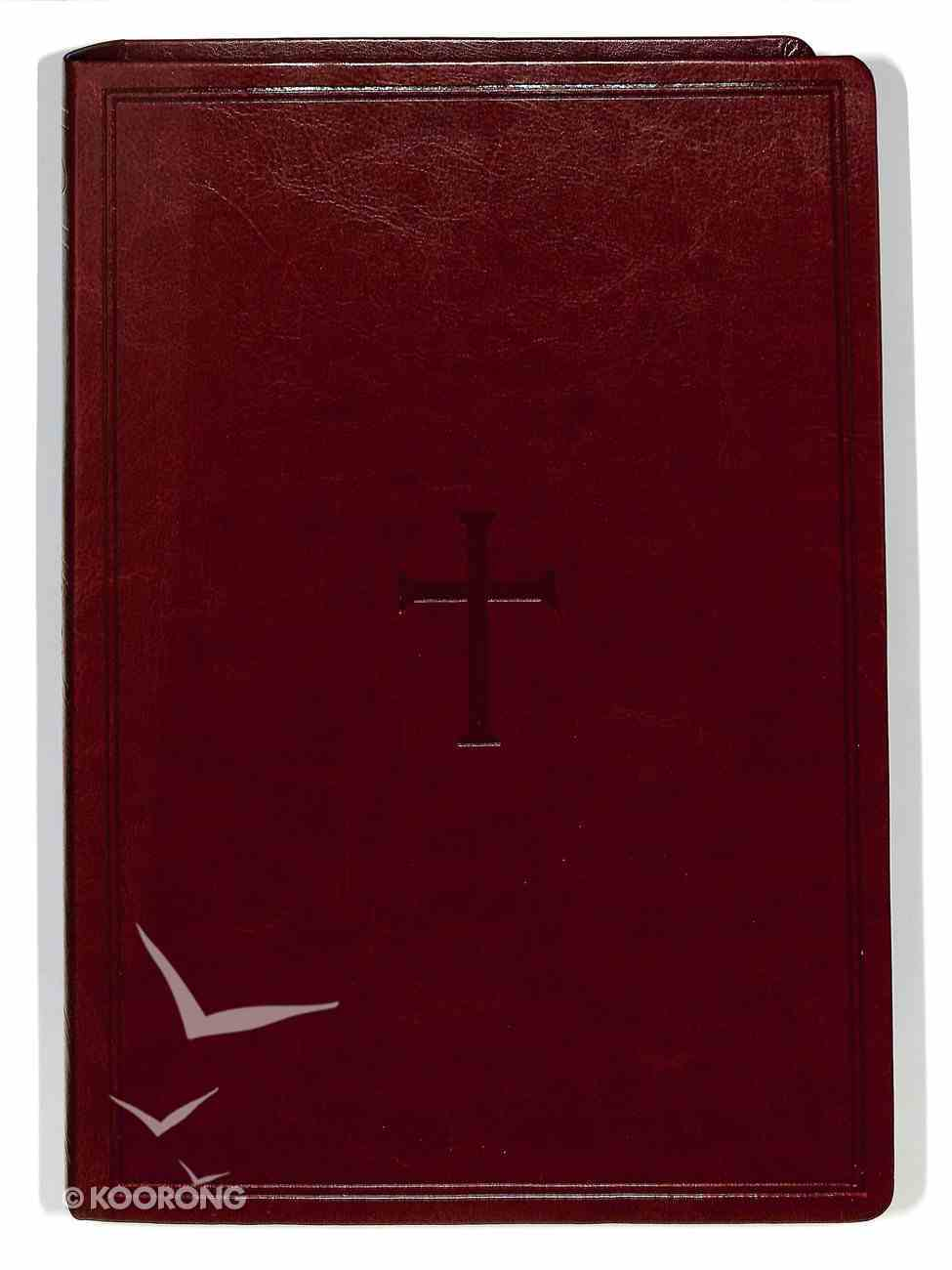 NKJV Super Giant Print Reference Bible Brown Premium Imitation Leather