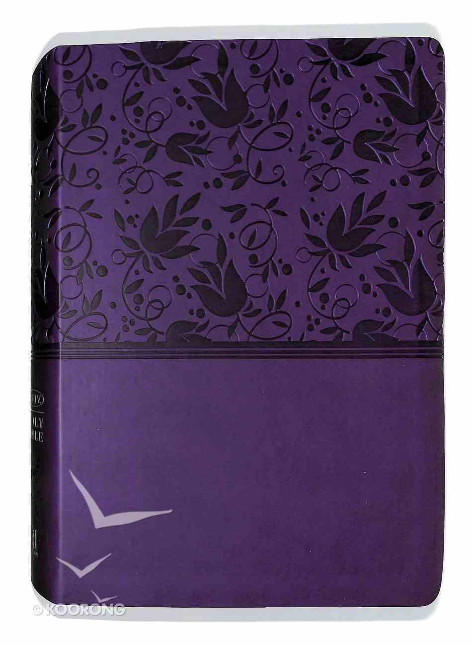 NKJV Super Giant Print Reference Bible Purple Premium Imitation Leather