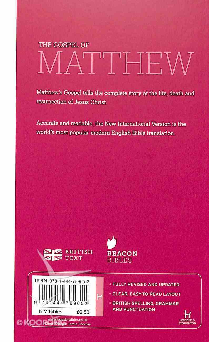 NIV Gospel of Matthew Paperback