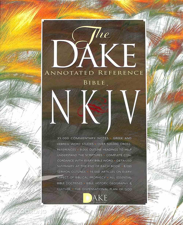 NKJV Dake Annotated Reference Bible Black Leathersoft (Larger Print) Premium Imitation Leather