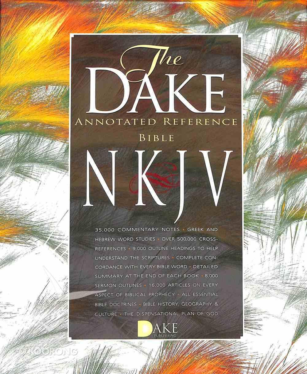 NKJV Dake Annotated Reference Bible Burgundy Leathersoft Premium Imitation Leather