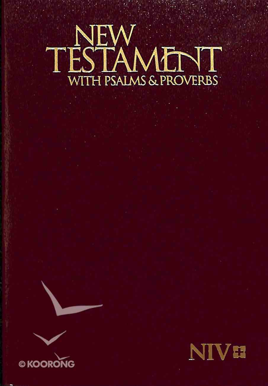 NIV Pocket New Testament With Psalms & Proverbs Burgundy (Black Letter Edition) Paperback