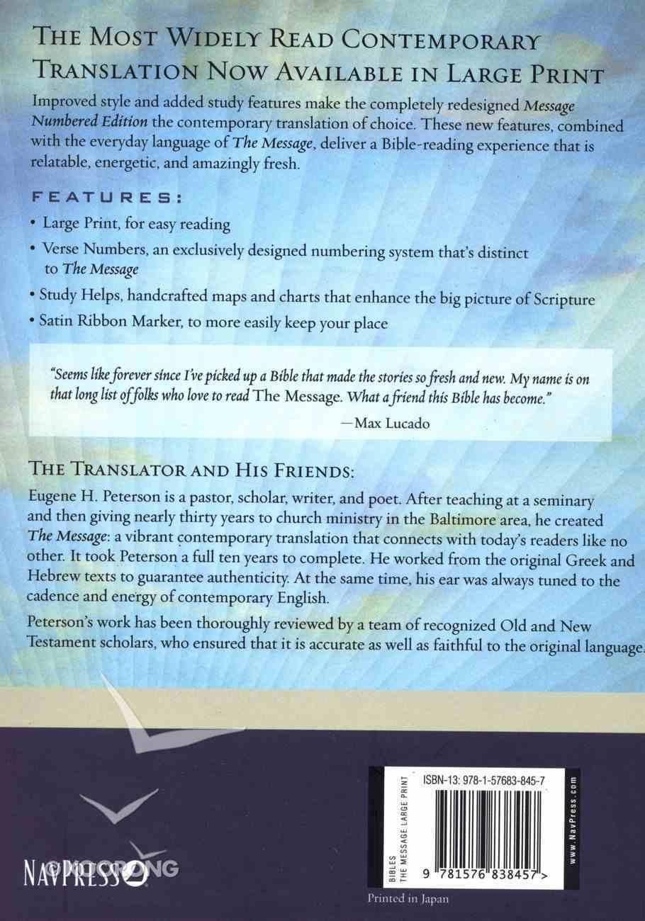 Message Large Print (Black Letter Edition) Hardback