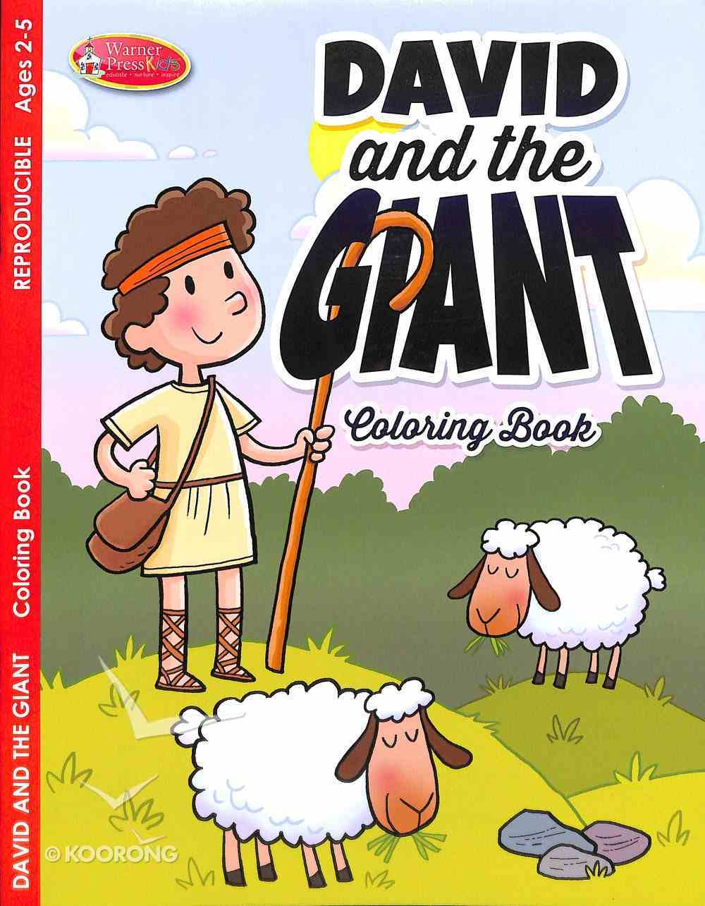 David & the Giant (Ages 2-5, Reproducible) (Warner Press Colouring/activity Under 5's Series) Paperback