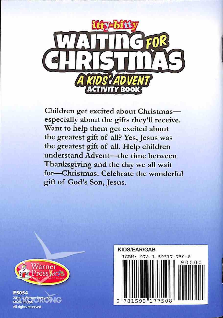 Activity Book Waiting For Christmas Kid's Advent (Itty Bitty Bible Series) Paperback