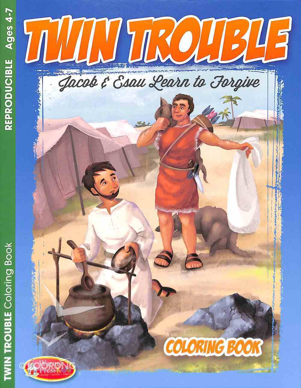 Twin Trouble - Jacob & Esau Learn to Forgive (Ages 4-7, Reproducible) (Warner Press Colouring & Activity Books Series) Paperback