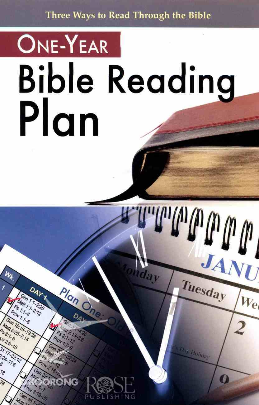 One Year Bible Reading Plan (Rose Guide Series) Booklet
