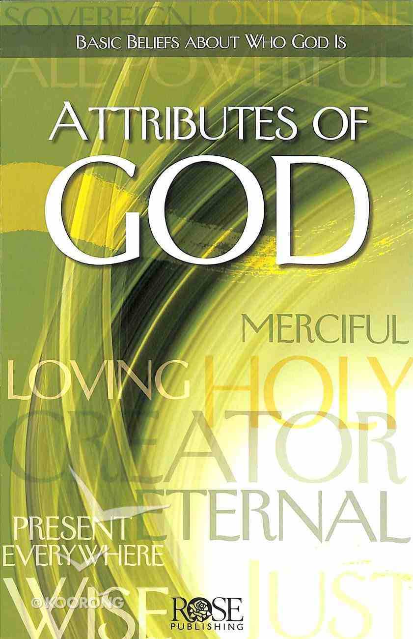 Attributes of God (Rose Guide Series) Pamphlet