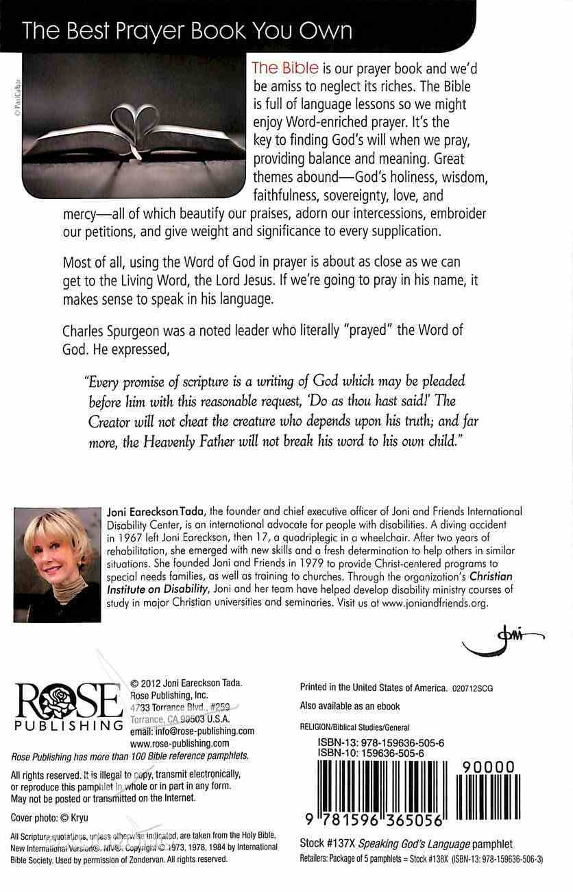 Prayer: Speaking God's Language (Rose Guide Series) Pamphlet