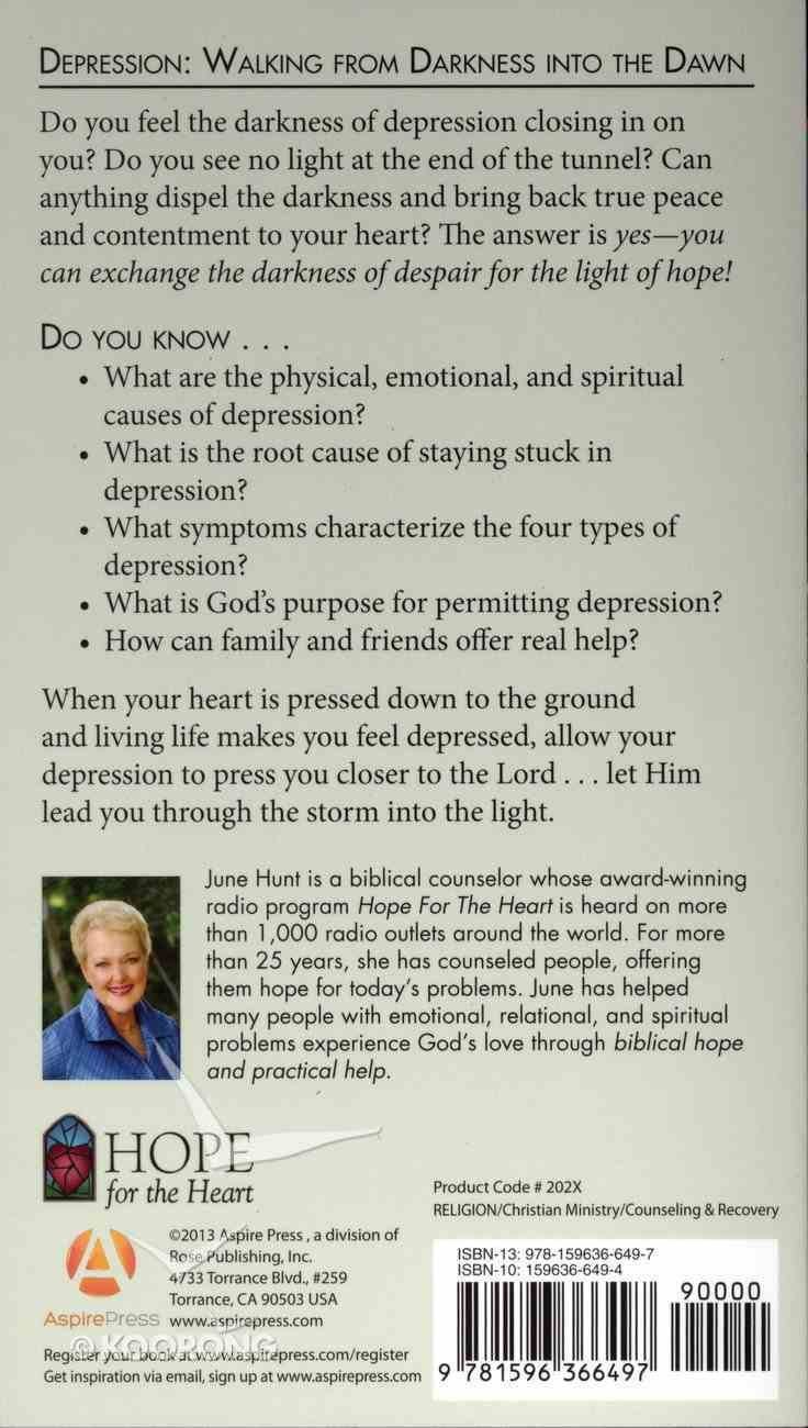 Depression (Hope For The Heart Series) Paperback