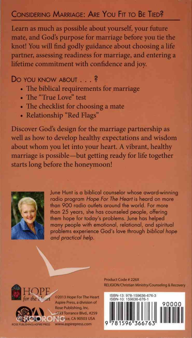 Considering Marriage (Hope For The Heart Series) Paperback