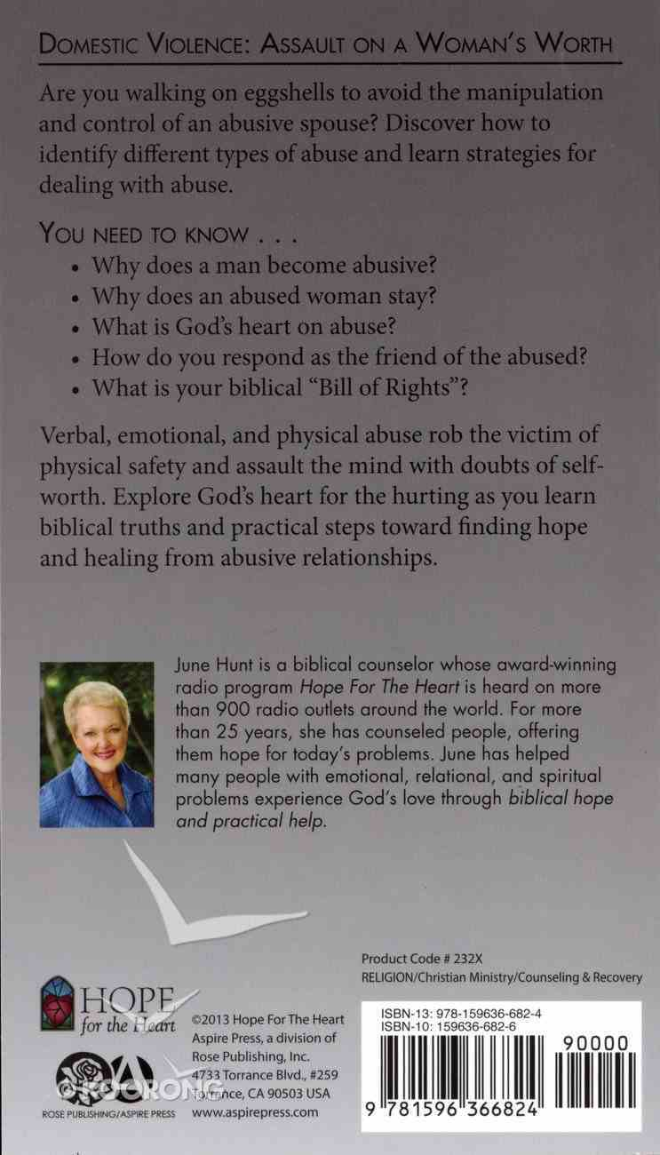 Domestic Violence (Hope For The Heart Series) Paperback